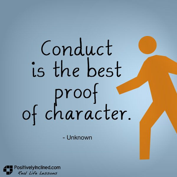 conduct&character
